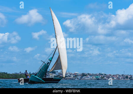 An Old Dhow in Lamu - Stock Photo