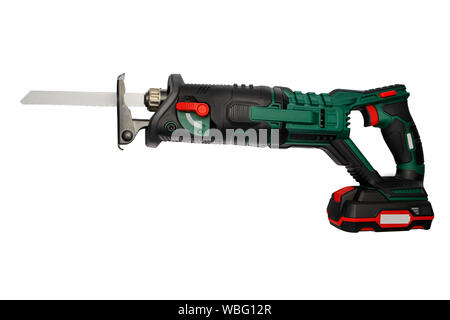 Electric saw isolated on white with clipping path. - Stock Photo