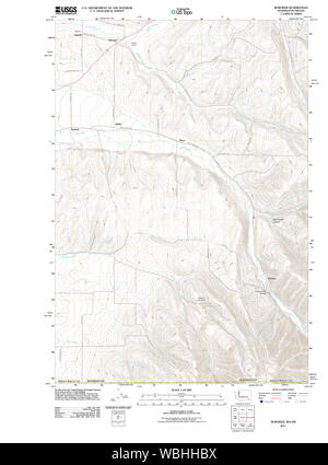 USGS Topo Map Washington State WA Buroker 20110914 TM Restoration - Stock Photo