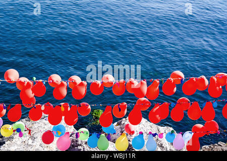 Background of red  baloons. Colorful balloons background. Istanbul. - Stock Photo