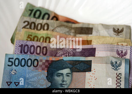 Close-up Of Indonesian Rupiah Notes - Stock Photo