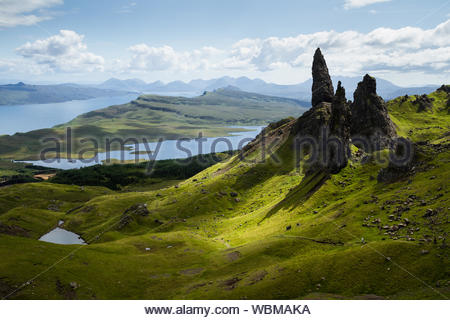 View Over Old Man Of Storr, Isle Of Skye, Scotland - Stock Photo