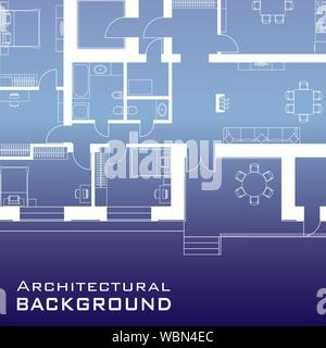 Urban background. Part of architectural project, architectural plan of a residential building. Vector illustration EPS10 - Stock Photo