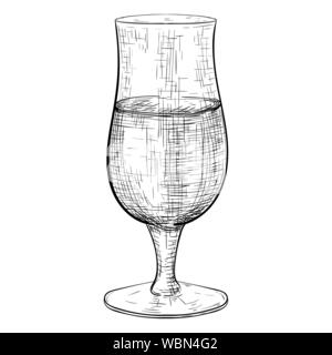Beer glass. Hand drawn sketch - Stock Photo