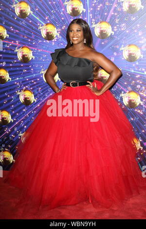 Motsi Mabuse at the Strictly Come Dancing Launch at BBC Broadcasting House in London. Credit: SOPA Images Limited/Alamy Live News - Stock Photo