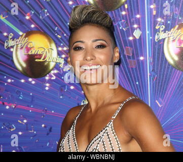 London, UK. 26th Aug, 2019. Karen Hauer at the Strictly Come Dancing 2019 Launch at BBC Broadcasting House Credit: SOPA Images Limited/Alamy Live News - Stock Photo