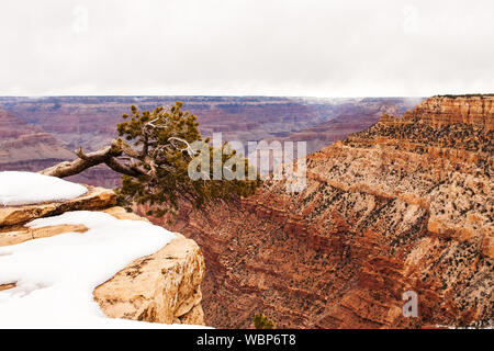High Angle View Of Canyon Against Sky - Stock Photo