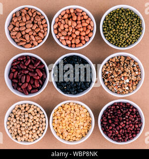 High Angle View Of Legumes - Stock Photo