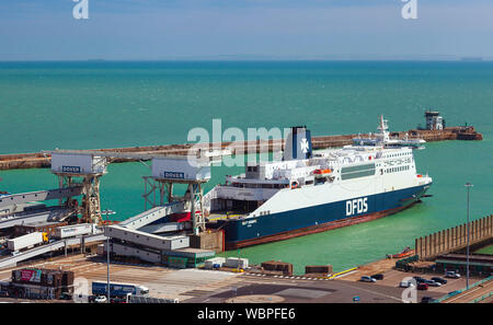 Port of Dover ferry Terminal. - Stock Photo