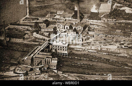 A Yorkshire Colliery 1933 from the air - Stock Photo