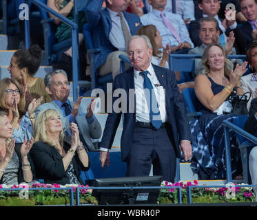 New York, USA. 26th Aug, 2019. Rod Laver attends opening ceremony of US Open Tennis Championship at Billie Jean King National Tennis Center (Photo by Lev Radin/Pacific Press) Credit: Pacific Press Agency/Alamy Live News - Stock Photo