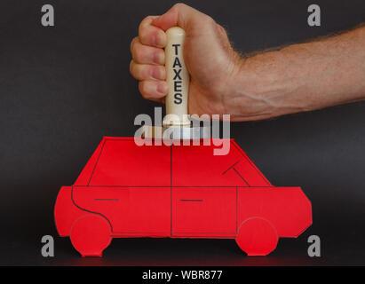 concept of car-taxes - Stock Photo