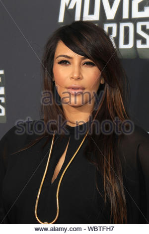 Los Angeles, CA - Kim Kardashian attends the 2013 MTV Movie Awards held at Sony Pictures Studio in Los Angeles. AKM-GSI, April 14, 2013 - Stock Photo