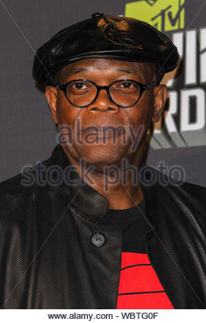 Culver City, CA - Samuel L. Jackson poses in the press room during the 2013 MTV Movie Awards held at Sony Pictures Studios. AKM-GSI, April 14, 2013 - Stock Photo