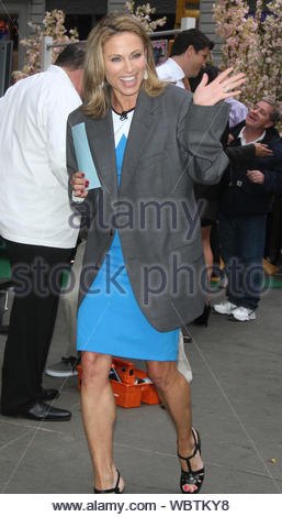 New York, NY - Amy Robach arrives at the GMA Studios in New York City. AKM-GSI, April 17, 2013 - Stock Photo