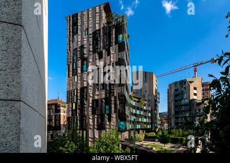 Modern buildings in Porta Nuova district in milan, Italy - Stock Photo