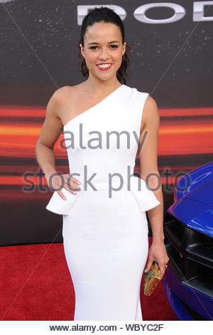 Universal City, CA - Michelle Rodriguez arrives at the premiere of 'Fast & Furious 6' in Universal City. AKM-GSI, May 21, 2013 - Stock Photo