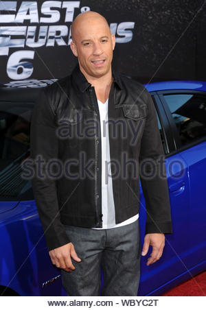 Universal City, CA - Vin Diesel arrives at the premiere of 'Fast & Furious 6' in Universal City. AKM-GSI, May 21, 2013 - Stock Photo
