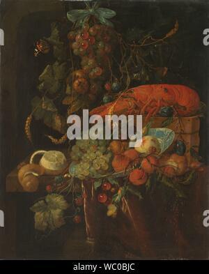 Still Life with Fruit and a Lobster, Jan Davidsz. de Heem (copy after), 1640 - 1700.jpg - WC0BJC - Stock Photo