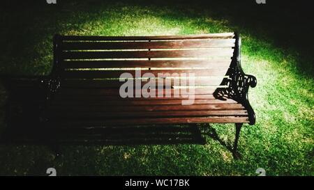 Empty Bench In Park - Stock Photo