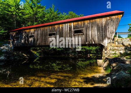 Dalton Covered Bridge _ Warner, New Hampshire, USA - Stock Photo