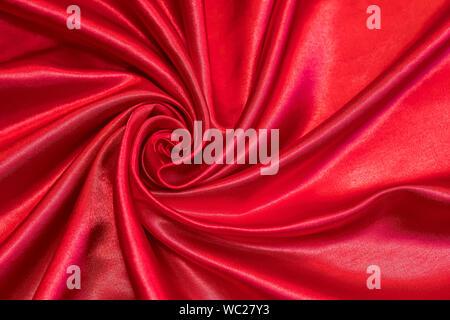Full Frame Shot Of Red Fabric - Stock Photo