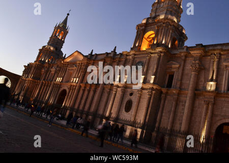 Catedral de Arequipa / Arequipa Cathedral, Peru - Stock Photo