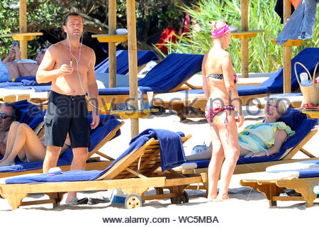 Porto Cervo, Italy - Ivana Trump was joined by her on/off former husband Rossano Rubicondi while relaxing by the beach in Italy. AKM-GSI, August 10, 2013 - Stock Photo