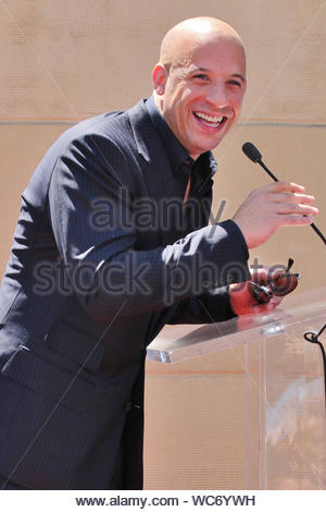 Hollywood, CA - Vin Diesel attends his being honored with a star on The Hollywood Walk Of Fame. AKM-GSI, August 26, 2013 - Stock Photo