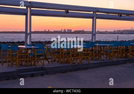La Rochelle, France - May 11, 2019: Beautiful sunset view over Minimes Beach or Plage des Minimes in La Rochelle, France - Stock Photo