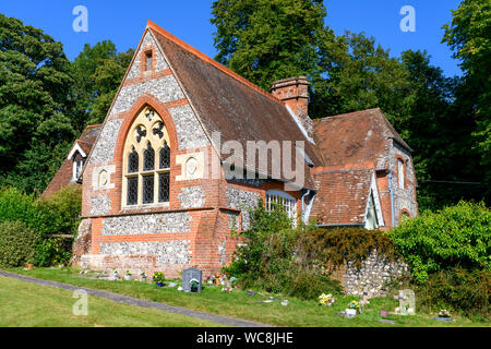 Former Laverstoke Primary School - architect George Edmund Street - Laverstoke, Hampshire, England, UK - Stock Photo