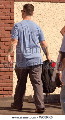 Hollywood, CA - Jack Osbourne gets ready for another 'Dancing With The Stars' rehearsal day. AKM-GSI, September 14, 2013 - Stock Photo