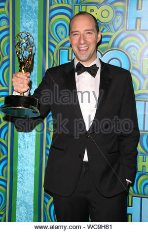 Los Angeles, CA - Tony Hale arrives at HBO's Annual Primetime Emmy Awards Post show reception at The Plaza at the Pacific Design Center in Los Angeles. AKM-GSI, September 22, 2013 - Stock Photo