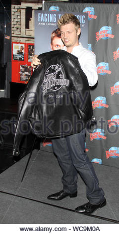 New York, NY - Nick Carter leaving his mark at Planet Hollywood Times Square in New York. Nick made his handprints at the restaurant and spent time talking about his new book 'Facing The Music: And Living To Talk About It'. AKM-GSI, September 24, 2013 - Stock Photo