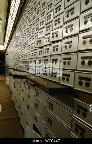 Safety Deposit Boxes In Bank - Stock Photo