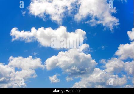 Cloudy sky over Bonaire, Netherland Antilles - Stock Photo