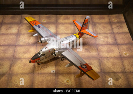 Model of Grumman SA-16A Albatross plane, 1950s, Bentwaters Cold War museum, Suffolk, England, UK - Stock Photo