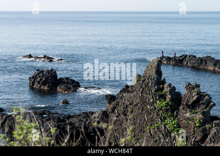 Scenic View Of Jeju Island During Sunny Day - Stock Photo