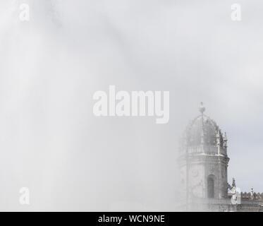 Low Angle View Of Mosteiro Dos Jeronimos Against Sky - Stock Photo