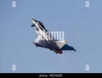 Rhyl,Uk Rhyl Airshow 2019 featuring Typhoon credit Ian Fairbrother/Alamy Stock Photos - Stock Photo