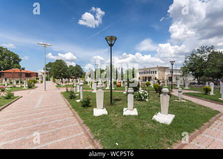 EDIRNE, TURKEY - MAY 26, 2018: Old Ottoman Cemetery near to Selimiye Mosque in city of Edirne,  East Thrace, Turkey - Stock Photo