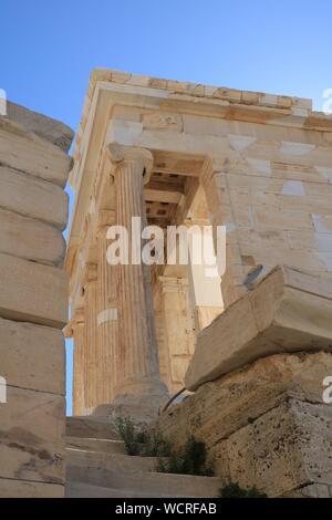 Temple of Athena Nike, Acropolis of Athens - Stock Photo