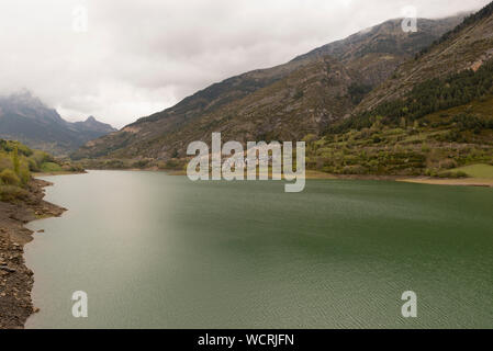 For the town of lanuza in the Pyrenees of Huesca - Stock Photo