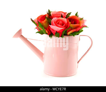 Close-up Of Flower Vase Against White Background - Stock Photo