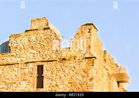 Burgaltendorf, ruins of castle Altendorf in Essen, Ruhr area, North Rhine-Westphalia, Germany. - Stock Photo