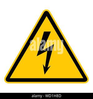 Danger High Voltage Sign - Stock Photo