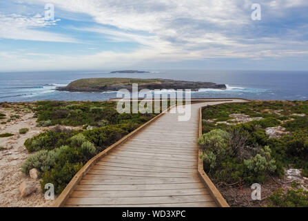 Cape du Couedic boardwalk. Flinders Chase National Park, Kangaroo Island, South Australia - Stock Photo