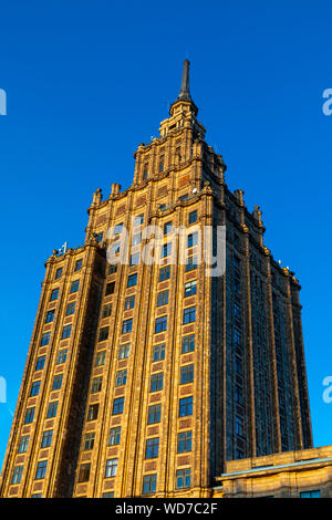 Academy of Sciences Building, Riga, Latvia, Northern Europe, - Stock Photo