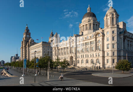 The Three Graces in Liverpool - Stock Photo