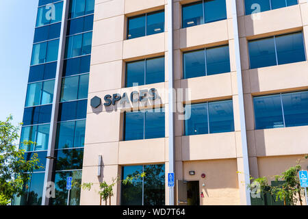 August 7, 2019 San Jose / CA / USA - Spaces office building located in Silicon Valley; Spaces is an American company that provides shared workspaces - Stock Photo